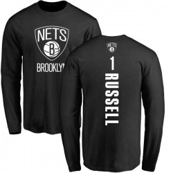 Men's D'Angelo Russell Brooklyn Nets Black Backer Long Sleeve T-Shirt