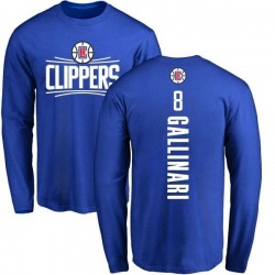 Men's Danilo Gallinari Los Angeles Clippers Royal Backer Long Sleeve T-Shirt
