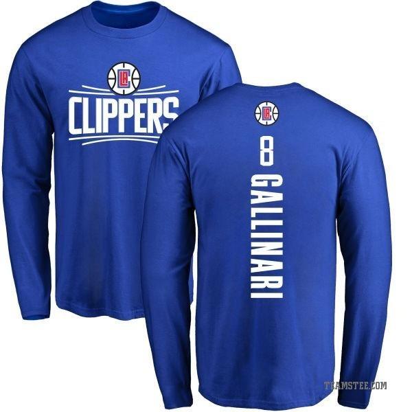 brand new ec5d0 98bec Men's Danilo Gallinari Los Angeles Clippers Royal Backer Long Sleeve  T-Shirt - Teams Tee