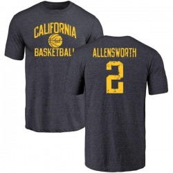 Men's Darius Allensworth Cal Bears Distressed Basketball Tri-Blend T-Shirt - Navy