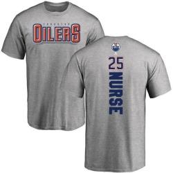 Men's Darnell Nurse Edmonton Oilers Backer T-Shirt - Ash