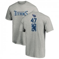 Men's Darrius Sims Tennessee Titans Backer T-Shirt - Ash