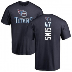 Men's Darrius Sims Tennessee Titans Backer T-Shirt - Navy