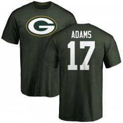 Men's Davante Adams Green Bay Packers Name & Number Logo T-Shirt - Green