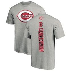 Men's Dave Concepcion Cincinnati Reds Backer T-Shirt - Ash