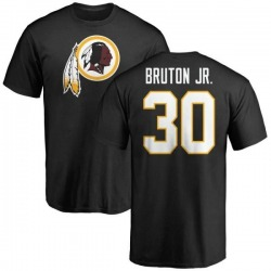 Men's David Bruton Jr. Washington Redskins Name & Number Logo T-Shirt - Black
