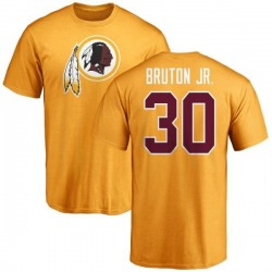 Men's David Bruton Jr. Washington Redskins Name & Number Logo T-Shirt - Gold