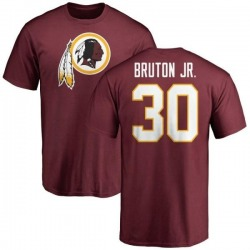 Men's David Bruton Jr. Washington Redskins Name & Number Logo T-Shirt - Maroon