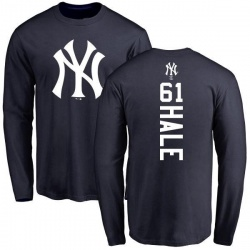 Men's David Hale New York Yankees Backer Long Sleeve T-Shirt - Navy