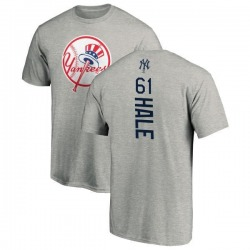 Men's David Hale New York Yankees Backer T-Shirt - Ash
