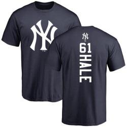 Men's David Hale New York Yankees Backer T-Shirt - Navy