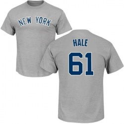 Men's David Hale New York Yankees Roster Name & Number T-Shirt - Gray