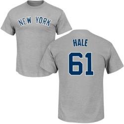 Men's David Hale New York Yankees Roster Name & Number T-Shirt - Gray