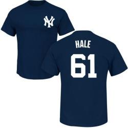 Men's David Hale New York Yankees Roster Name & Number T-Shirt - Navy