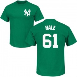 Men's David Hale New York Yankees St. Patrick's Day Roster Name & Number T-Shirt - Green