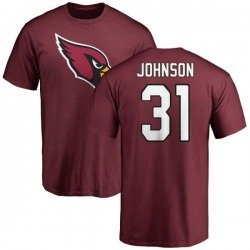 Men's David Johnson Arizona Cardinals Name & Number Logo T-Shirt - Maroon