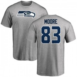 Men's David Moore Seattle Seahawks Name & Number Logo T-Shirt - Ash