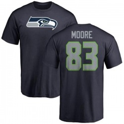 Men's David Moore Seattle Seahawks Name & Number Logo T-Shirt - Navy