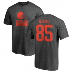 Men's David Njoku Cleveland Browns One Color T-Shirt - Ash