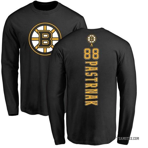 wholesale dealer a3497 5bfca Men's David Pastrnak Boston Bruins Backer Long Sleeve T-Shirt - Black -  Teams Tee