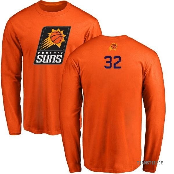 Men's Davon Reed Phoenix Suns Orange Backer Long Sleeve T-Shirt