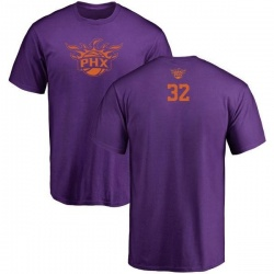 Men's Davon Reed Phoenix Suns Purple One Color Backer T-Shirt