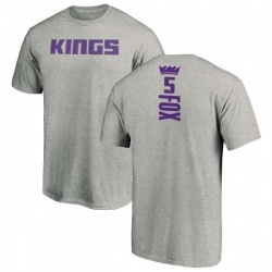 Men's De'Aaron Fox Sacramento Kings Ash Backer T-Shirt