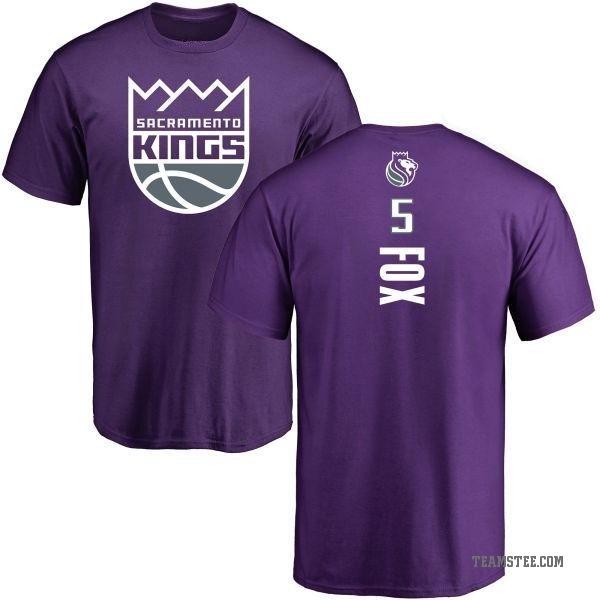 new concept 73423 d184a Men's De'Aaron Fox Sacramento Kings Purple Backer T-Shirt - Teams Tee