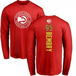 Men's DeAndre' Bembry Atlanta Hawks Red Backer Long Sleeve T-Shirt