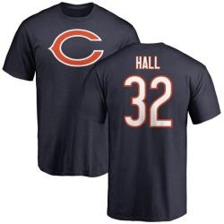Men's Deiondre Hall Chicago Bears Name & Number Logo T-Shirt - Navy