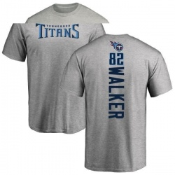 Men's Delanie Walker Tennessee Titans Backer T-Shirt - Ash