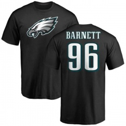 Men's Derek Barnett Philadelphia Eagles Name & Number Logo T-Shirt - Black