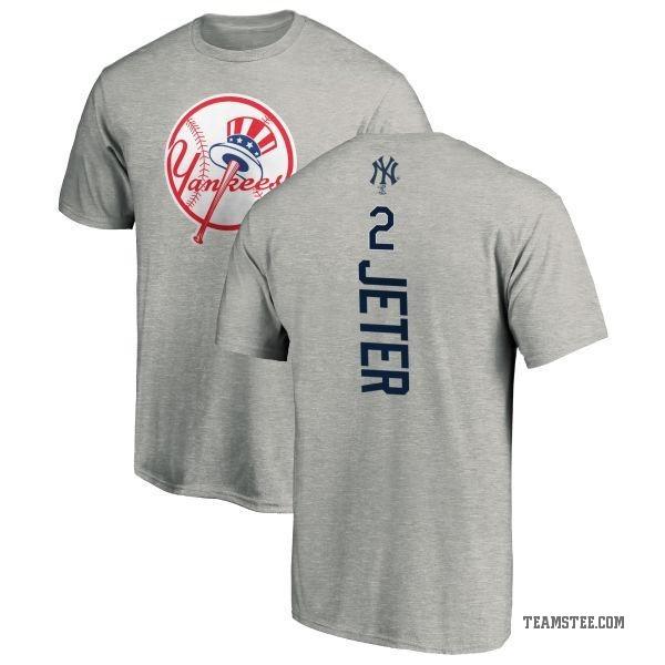 9bb6131df4c Men's Derek Jeter New York Yankees Backer T-Shirt - Ash - Teams Tee