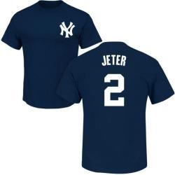 Men's Derek Jeter New York Yankees Roster Name & Number T-Shirt - Navy