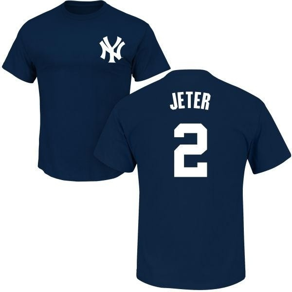 online store 5df43 d2362 Men's Derek Jeter New York Yankees Roster Name & Number T-Shirt - Navy -  Teams Tee