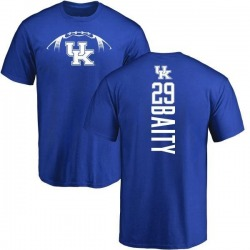 Men's Derrick Baity Kentucky Wildcats Football Backer T-Shirt - Royal