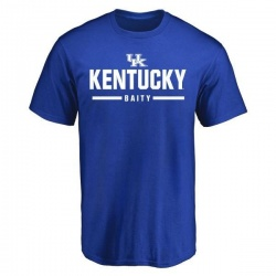 Men's Derrick Baity Kentucky Wildcats Sport Wordmark T-Shirt - Royal
