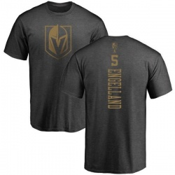 Men's Deryk Engelland Vegas Golden Knights Charcoal One Color Backer T-Shirt