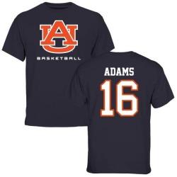 Men's Devin Adams Auburn Tigers Basketball T-Shirt - Navy