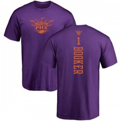 Men's Devin Booker Phoenix Suns Purple One Color Backer T-Shirt