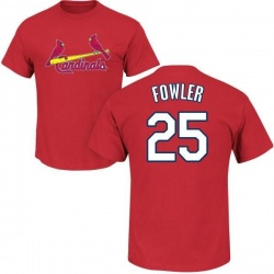 Men's Dexter Fowler St. Louis Cardinals Roster Name & Number T-Shirt - Red