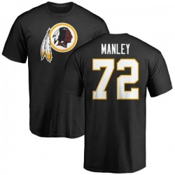 Men's Dexter Manley Washington Redskins Name & Number Logo T-Shirt - Black