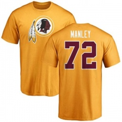 Men's Dexter Manley Washington Redskins Name & Number Logo T-Shirt - Gold