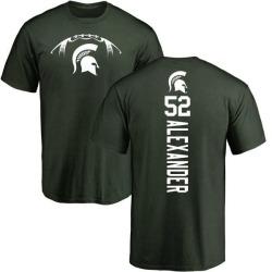 Men's Dillon Alexander Michigan State Spartans Football Backer T-Shirt - Green
