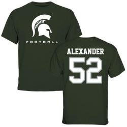Men's Dillon Alexander Michigan State Spartans Football T-Shirt - Green