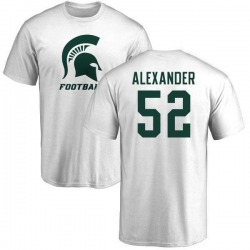 Men's Dillon Alexander Michigan State Spartans One Color T-Shirt - White
