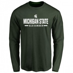 Men's Dillon Alexander Michigan State Spartans Sport Wordmark Long Sleeve T-Shirt - Green
