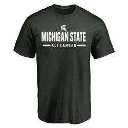 Men's Dillon Alexander Michigan State Spartans Sport Wordmark T-Shirt - Green