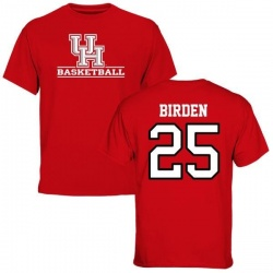 Men's Dillon Birden Houston Cougars Basketball T-Shirt - Red