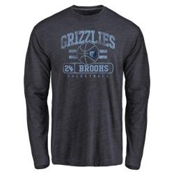 Men's Dillon Brooks Memphis Grizzlies Navy Baseline Tri-Blend Long Sleeve T-Shirt